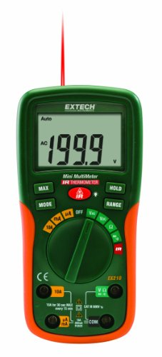 Extech EX210 Digital MultiMeter Thermometer