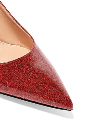 Sammitop Women's Pointed Toe Slingback Shoes Dress Kitten Heel Pumps Comfortable Dress Shoes Shoes B07DC46MCQ 6.5 B(M) US|Glitterred c0ba2f