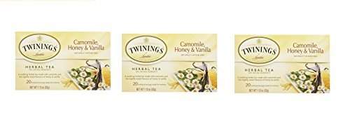 Twinings , Camomile Honey, Vanilla ,( 3 x20 tea bags), Pack of 3 (Twinings Caffeine Free Tea)