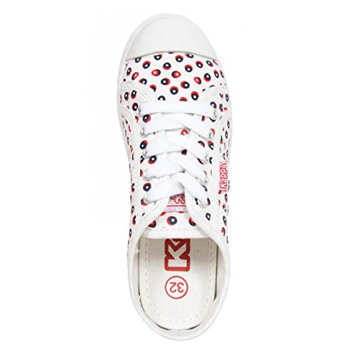 Kappa Sneaker Für Damen 303I180 KEYSY 912 White Dot Red Schuhgröße 40