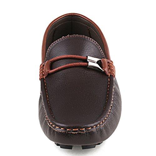 Freitzeit Herren Metallschnallen Driving Kaffee Mokassin Slipper ShenDuo D3358 Schuhe mit vaqwxwF