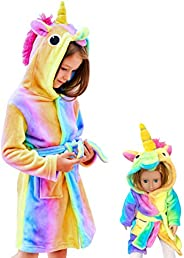 Doctor Unicorn Soft Unicorn Hooded Bathrobe Sleepwear - Unicorn Gifts for Girls