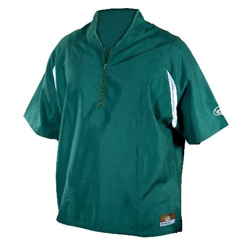 GSM Outdoors LS1431-A-FG-XL Louisville Adult Slugger Batting Cage Pull-Over Short Sleeve, X-Large, Forest Green
