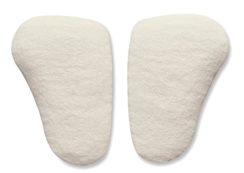 Hapad Metatarsal Pads Small, 3/8'' Thick (Pack of 3 Pairs) - Longitudinal Metatarsal Arch Pads Made from 100% Wool Felt for Support, Comfort and Foot Pain Relief (Player Wool)