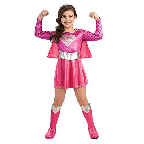 [Supergirl Pink Costume Toddler 2-4T] (Supergirl Costumes Pink)