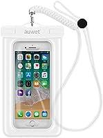 Auwet 防水ケース スマホ用【指紋認証+顔認証対応】IPX8規格 水に浮く スキー 釣り プール お風呂など適用 携帯防水ケース 防水バッグ iPhone XS MAX/iPhone 8 7 Plus/Galaxy...