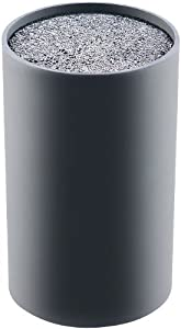 TokioKitchenWare Messerblock mit Borsteinsatz, schwarz