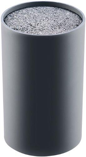 TokioKitchenWare Universeller Messerblock mit Borsten-Einsatz, schwarz