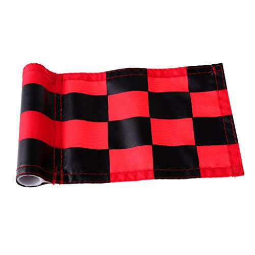 Prettyia 4Pcs Golf Chequered Flag Backyard Outdoor Putting Green Practice Aids Flags for Golf Club by Prettyia (Image #5)