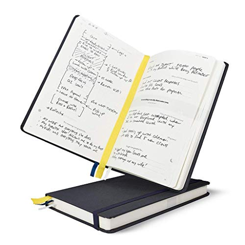 BestSelf Co. The SELF Journal - 2019-2020 Bullet Dot Journal - Daily Planner Designed for Entrepreneurs - Practice Gratitude, Solidify Habits, Manage Time, and Attain Goals - Charcoal (Navy Start Guide)