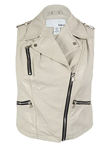 解明起こる隔離するバーIII Women 's Pebbled faux-leather Moto Vest