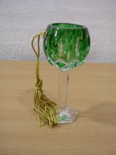 Gorham Lady Anne Hock Wine Crystal Goblet Ornament NEW