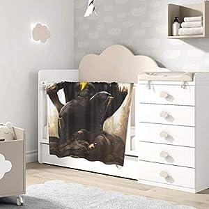 AOOEDM Baby Blanket Black Adam Toddler Kids Blanket Super Soft Baby Blankets Cozy Crib Lightweight Comforter Breathable…