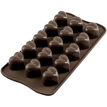Silikomart Silicone Easy Chocolate Mold, Hearts