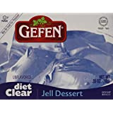 Gefen Jell Dessert Kosher for Passover and All Year Round, Diet Clear - Unflavored, 0.35 Ounces