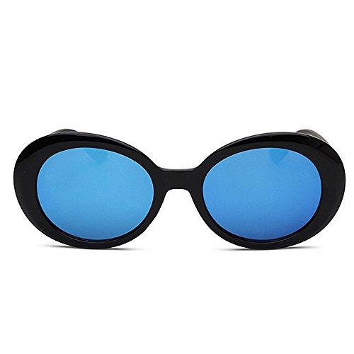 des Brillants de Bleu UV Lunettes Grandes Rimmed de la Conduite Protection Soleil ovales Lunettes Nuances Soleil KOMEISHO Femmes de nouveauté Designer la personnalité Voyager vgqnB0