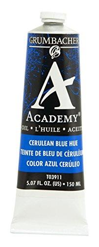 Academy Oil Color Paint - Grumbacher Academy Oil Paint, 150 ml/5.07 oz, Cerulean Blue Hue