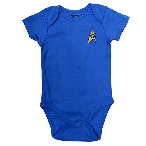Star Trek Baby Bodysuit Romper Infant Shirt Clothes (6-12 Months, Blue)