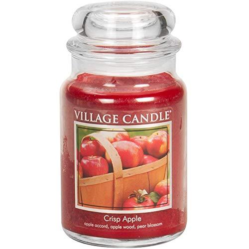 Village Candle Crisp Apple 26 oz Glass Jar Scented Candle, Large