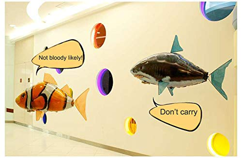 LVMENGMENG Air Swimmers Remote Control Inflatable Flying Turbo - Flying Balloon Toy Balloon Shark & Clownfish & Goldfish by LVMENGMENG (Image #4)