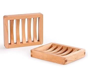 JVJ 2 Stück Holz Dusche Seifenschale Set, Holz: Amazon.de: Elektronik   {Duschboden holz 95}