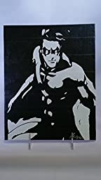 Duct Tape Art Piece of Nightwing