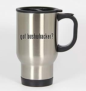 got bushwhacker? - 14oz Silver Travel Mug