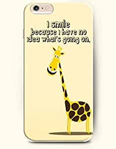 iPhone Case,OOFIT iPhone 6 Plus (5.5) Hard Case **NEW** Case with the Design of I smile because I have no idea what's going on - Case for Apple iPhone iPhone 6 (5.5) (2014) Verizon, AT&T Sprint, T-mobile