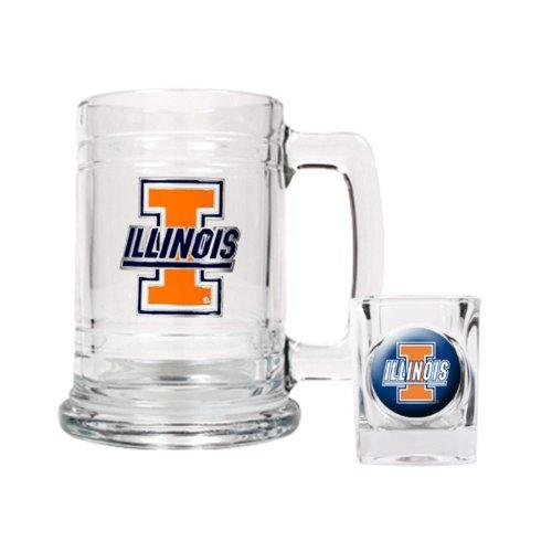 FindingKing University of Illinois Shot Glass & Tankard Set