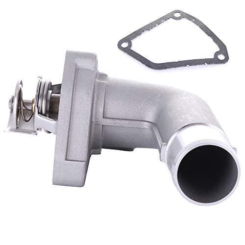 cciyu 21200-8J10B 13050-ZA000 Engine Coolant Thermostat Housing Kit Water Outlet Thermostat Housing Kit Replacement fit for 2002-2006 Nissan Altima 2003-2007 Nissan ()