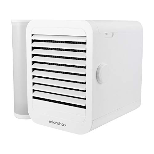Personal Air Cooler Conditioner Fan | Microhoo Household | Desktop Mini Air Cooler | Small Smart Portable | Cooling Fan for Home Offices Campers⭐⭐⭐⭐⭐ (White)