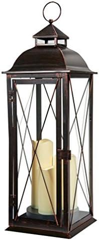 Smart Design Salerno 27-Inch Triple LED Candle Lantern