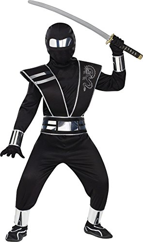 Silver Mirror Ninja Kids Costume -
