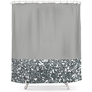black glitter bathroom accessories. Society6 Glitter Colorblock Shower Curtain 71  by Amazon com Popular Bath Sinatra Silver Home