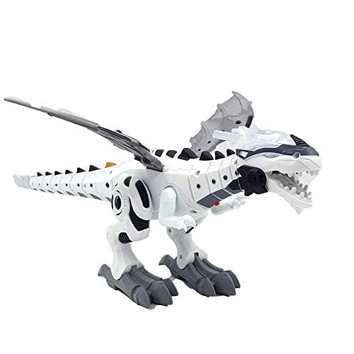 Gbell Electronic Walking Dragon Toy with Fire Breathing | Water Spray | Sound Roars | Glowing Lights - Intelligence Dino Smart Dinosaur Toy Birthday Xmas Gifts for Boys Girls 3-10 Year Old (White)