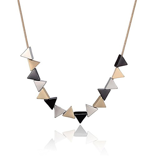 Meolin Triangle Bubble Bib Choker Necklaces Exaggerated Elegant Necklace for Women by Meolin