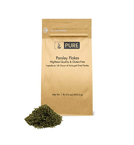 Parsley Flakes (1 lb) by Pure Organic Ingredients, Highest Quality & 100% Pure, & All-Natural, Rich-in-Flavor & High-in-Nutrients, Heart Healthy, Eco-Friendly Packaging