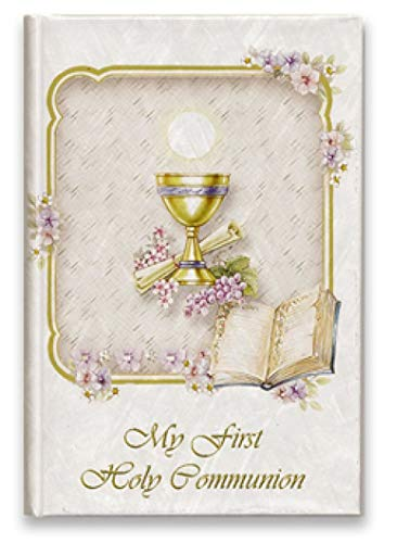 First Communion Missal Prayer Book with Gold Chalice - Catholic New Testament Book Hard Cover English