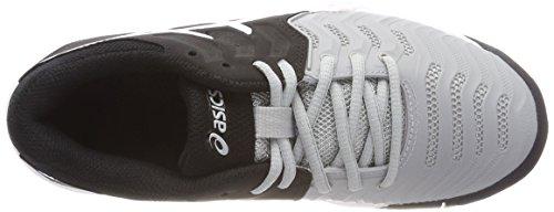 Asics Jungen Gel-Resolution 7 GS Tennisschuhe Mehrfarbig (Mid Greyblackwhite)