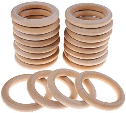 ongwish 20 Pack anillos de madera para manualidades, anillo ...