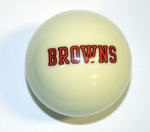 NFL Billiard Ball * All teams and colors * Great for replacement (Cleveland Browns White) ()