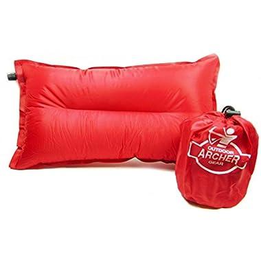 Archer Self Inflating Camping Air Pillow, Rectangular 20  X 12