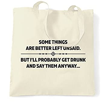 Amazoncom Canvas Tote Shopping Bag Some Things Are Better Left