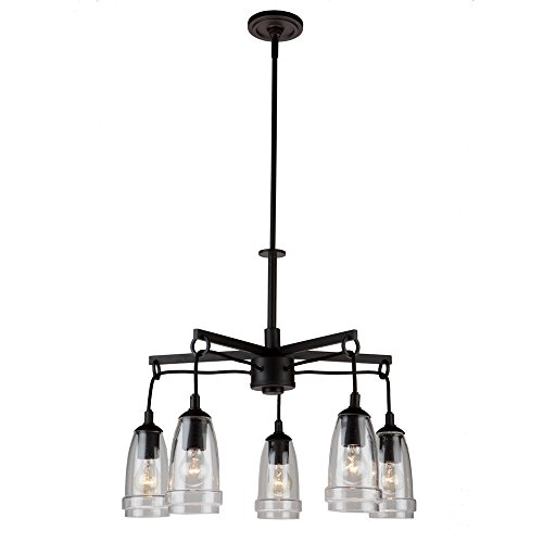 Artcraft Lighting Artcraft AC10525JV Nottingham 5-Light Chandelier, Java Brown