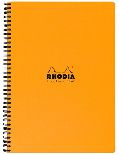 Rhodia 4 Color Book 9 in. x 11 3/4 in. orange by Rhodia