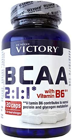 Victory BCAA 2:1:1 120 Caps. Máximo efecto recuperador. Leucina: Isoleucina:Valina en Proporción 2:1:1