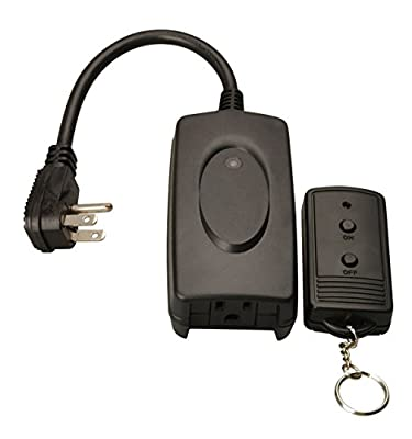 Coleman Cable 32555 Outdoor Wireless Remote Control, Black