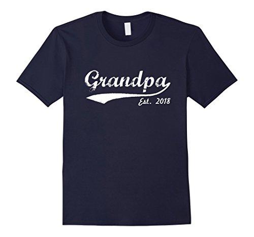 Mens New Grandpa T-Shirt - Grandpa Est 2018 - Grandpa To Be Shirt XL Navy