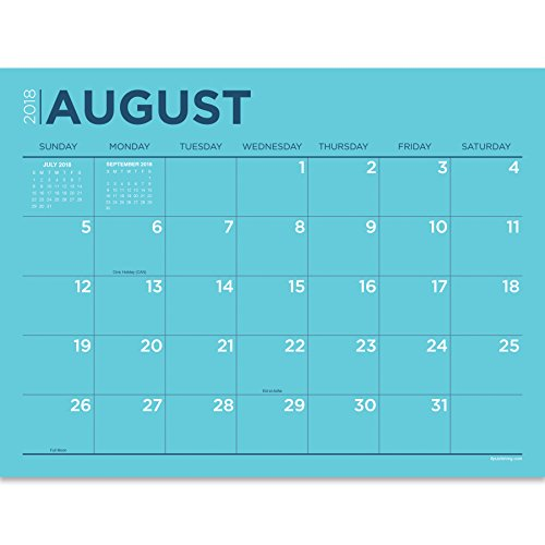 TF Publishing 19-8548A July 2018 - June 2019 Color Collection Mini Desk Pad Calendar, 12 x 9'', Multi Colored by TF Publishing (Image #1)