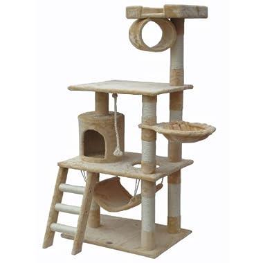 Go Pet Club 62  Cat Tree Condo Furniture Beige Color